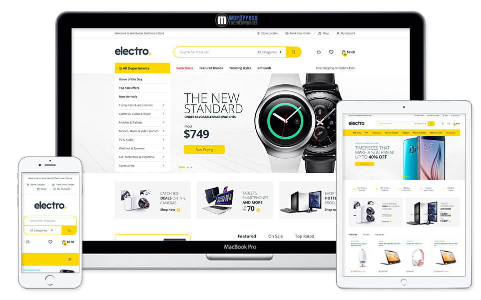 Electro electronics Store for WordPress