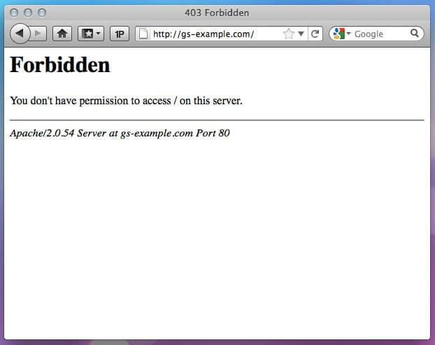 Error 403 - Forbidden