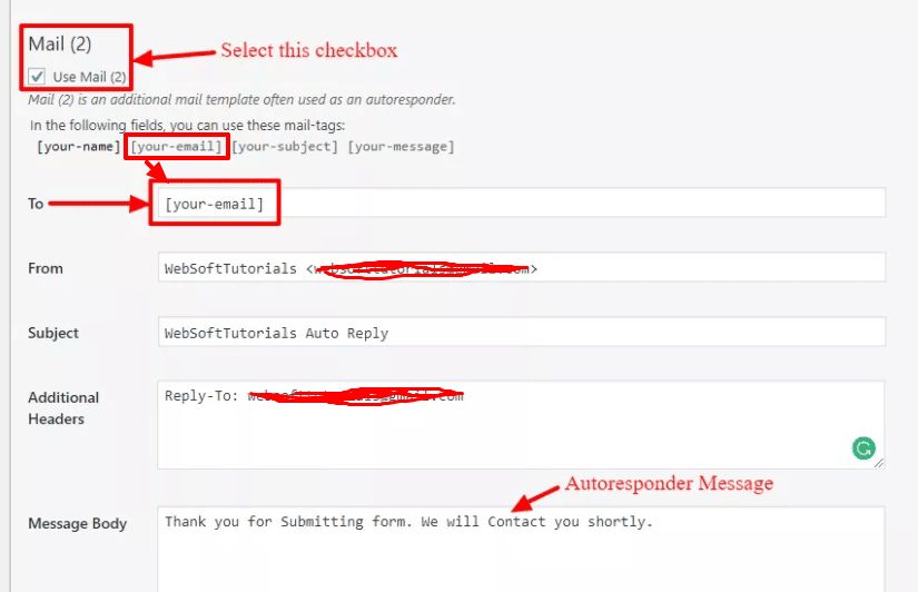 How to add Contact Form 7 AutoResponder Functions Step by Step Guide