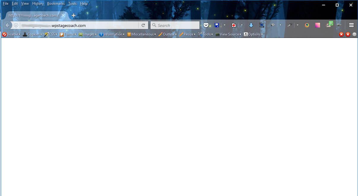 the white screen of death wordpress