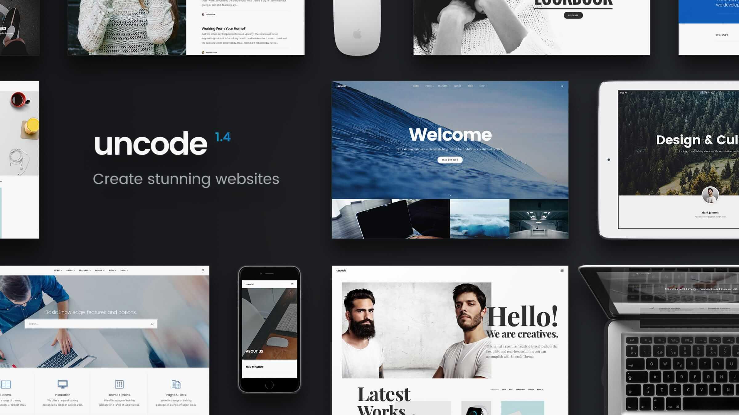 Best Premium WordPress Themes Uncode theme