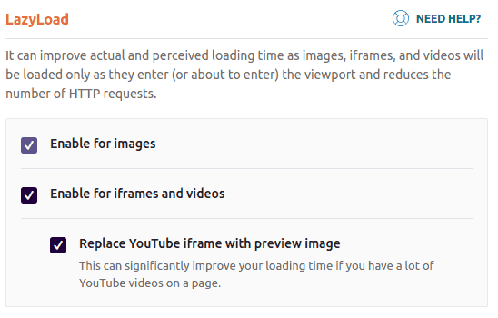 Lazy Load Youtube Vimeo Videos in WP Rocket
