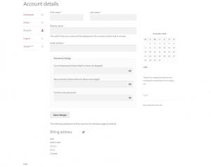 WooCommerce Merge My Account Tabs